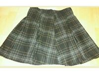 Ladies check print skirt size 8 grunge rock alternative