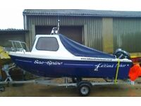 Falkland Fisher - Fishing Boat with 60hp Mercury Outboard Motor Included