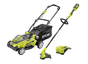 40V Electric Mower and String Trimmer Combo TONDEUSE WEEDEATER