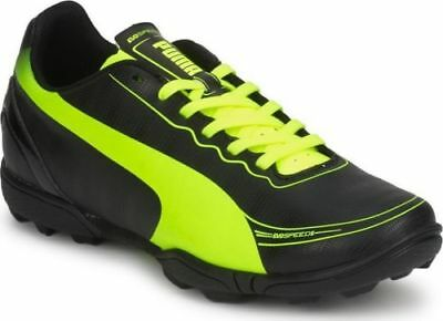 Puma junior evoSpeed 5.2 TT black-fluo yellow football trainers size UK 3