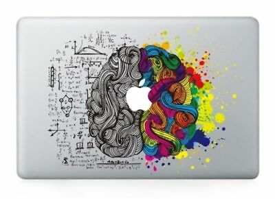 "Left and Right Brain Macbook Decal Sticker for Macbook Air/Pro/Retina 13""15""17"""