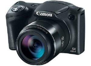 STORE SALE-FLAT $205 brand new Canon PowerShot SX420 IS 20MP Digital Camera with Wi-Fi & NFC - Black