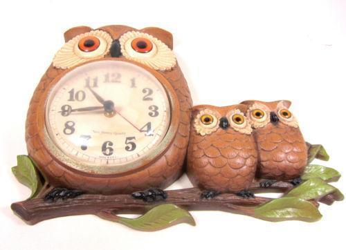 Vintage Owl Clock Ebay