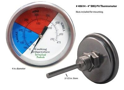 One 4 Bbq Pit Thermometer 48614