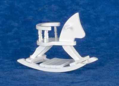 Dollhouse Miniature Rocking Horse, white, T5510