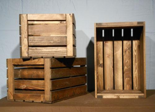 Wood crate antiques ebay for Buy wooden fruit crates