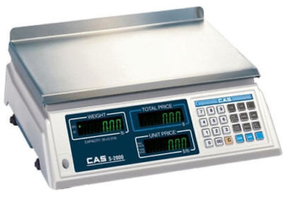 Cas S-2000 Price Computing Scale 60x0.02 Lbntep Legal For Trade Brand New