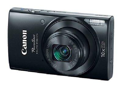 Canon Slim PowerShot ELPH 190 IS 20MP, 10x Optical Zoom & Built-In Wi-Fi, Black