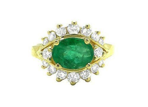 vintage emerald ring 14k ebay