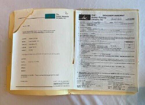 Waylon Jennings Concert Contract 1995 Pittsburgh