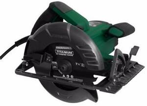 "New, Masterforce® 15-Amp Corded 7-1/4"" Circular Saw with Electric Brake (Open box) *PickupOnly"