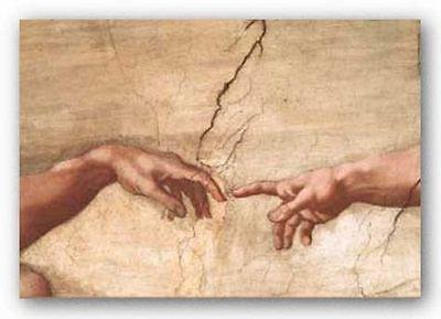 ART PRINT The Creation of Adam Michelangelo Buonarotti