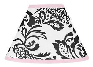 Sweet-Jojo-Designs-Lamp-Shade-for-Sophia-Pink-Black-Baby-Kid-Girl-Teen-Bedding