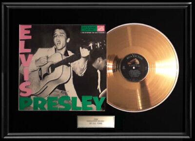 ELVIS PRESLEY DEBUT LPM 1254  ALBUM FRAMED GOLD PLATED LP VINYL RECORD NON RIAA