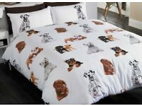 'Dogs' King Size Duvet cover and pillowcases