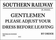 Metal Railway Signs