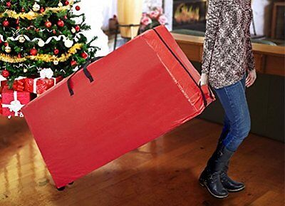 Simplify 7ft Christmas Tree Storage Bag with Wheeled Base, Holiday Red  Stronger