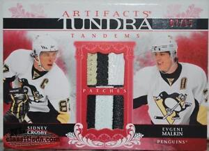 09/10 Artifacts Tundra Tandems Patches Crosby Malkin SP 7/15