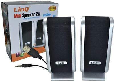Casse LINQ 2.0 USB mini speaker con jack 3.5 ideali per PC...