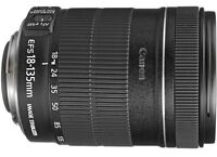 18 - 135mm canon lens