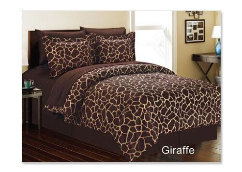 GIRAFFE 8 Piece Comforter Bed In A Bag Set QUEEN