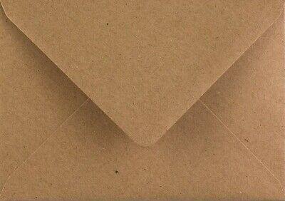 Kraft Envelopes C6 Brown Fleck 110gsm Premium Recycled Pack of 100 by Cranberry