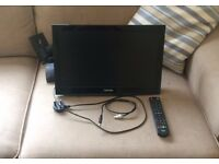 "Toshiba 19"" HD TV With Built in DVD Player and Wall Bracket"