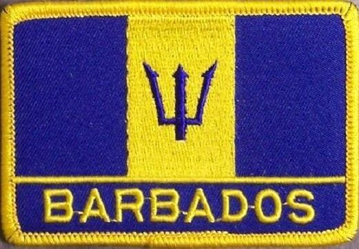 Embroidered International Patch National Flag of Barbados NEW flag