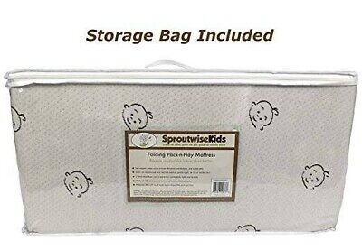 """Folding Pack-n-Play Mattress by Sproutwise Kids - 27"""" X 38"""" - NEW"""