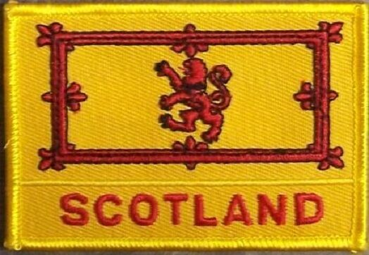 Embroidered International Patch National Flag of King of Scotland NEW flag