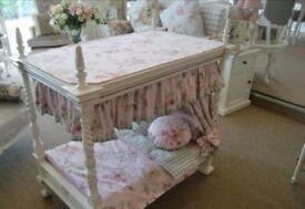 Beautiful four poster french louis childrens play bed for dollys fabulous addition to any girls room