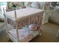 Stunning french Four poster baby bed