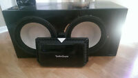 "1500 watt amp & 2-12"" subs"