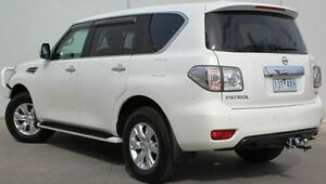 2013 Nissan Patrol Y62 ST-L White 7 Speed Sports Automatic Wagon Berwick Casey Area Preview