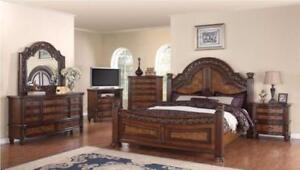 VINTAGE SOLID WOOD 6 PC QUEEN BEDROOM SET ON SALE (GL4)