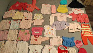 Girls 0 to 3 month clothing