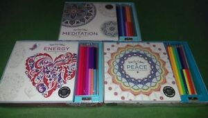 coloring book, Meditation,peace, energy,Color Therapy Kit