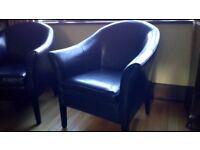 Leatherlook tub chairs