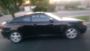 2004 Hyundai Tiburon SE, 75, 300kms, AS IS. $2600