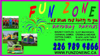 bouncers, bouncy castles, inflatables, carnival games cotton can