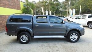 2013 Toyota Hilux KUN26R MY12 SR5 Grey 4 Speed Automatic 4D UTILITY Upper Ferntree Gully Knox Area Preview