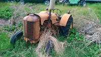 Antique Hand Crank Case Tractor