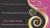 Brielle's Cleaning Services; Affordable & Thorough!