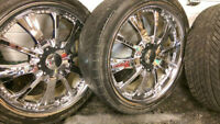 "5 BOLT 20"" KMC RIMS"
