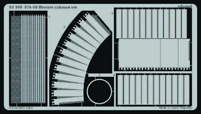 Eduard Accessories 32105 - 1:32 F/A-18 Hornet Exhaust Set Für Academy Bausatz -