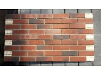 42 BRICK-TILE-PANELS and CORNERS NF752, colour red black flamed