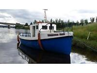 30 ft fishing boat OPEN for swaps