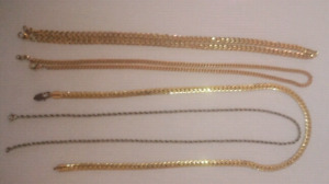 18k Gold Plated/ Sterling Silver Filled Chains Cheap!