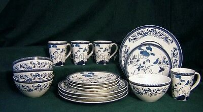 NEW 16 pc Set Roscher & Co. Cherry Berry Oriental Modern Service/ 4 plate bowl on Rummage