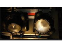 2x Martin MAC 600 Moving head Wash Lights in Flightcase